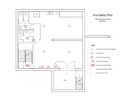 small resolution of fire safety plan basement