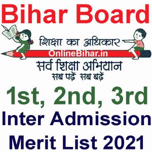 Bihar Board Inter Merit List 2021