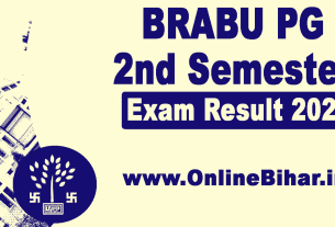 BRABU PG 2nd Semester Exam Result