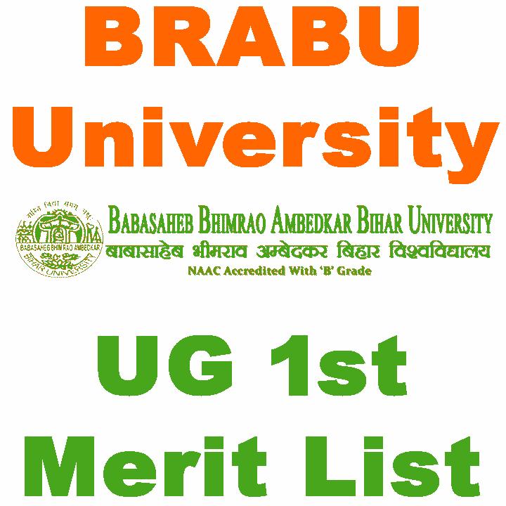 BRABU UG Admission 1st Merit List