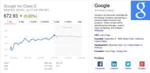 Actiunile Google au crescut