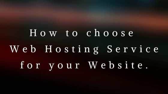 Find a web Hosting for Website