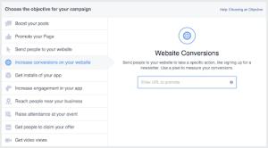 Facebook pixel custom website conversion