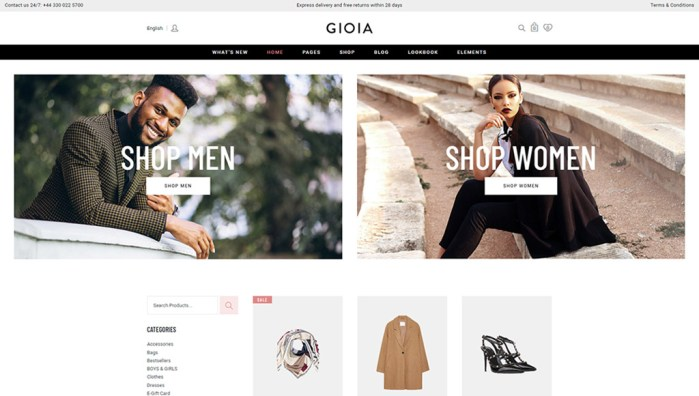 Gioia fashion wordpress theme