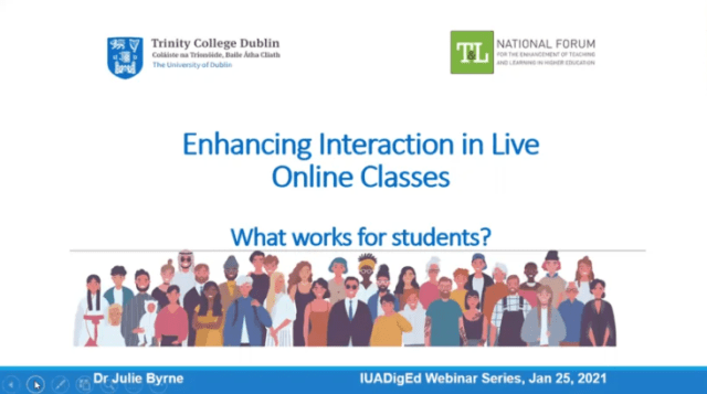 Enhancing Interaction in Live Online Classes