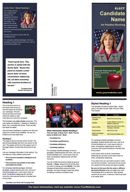 School Board Campaign Print Templates – Slate Blue And