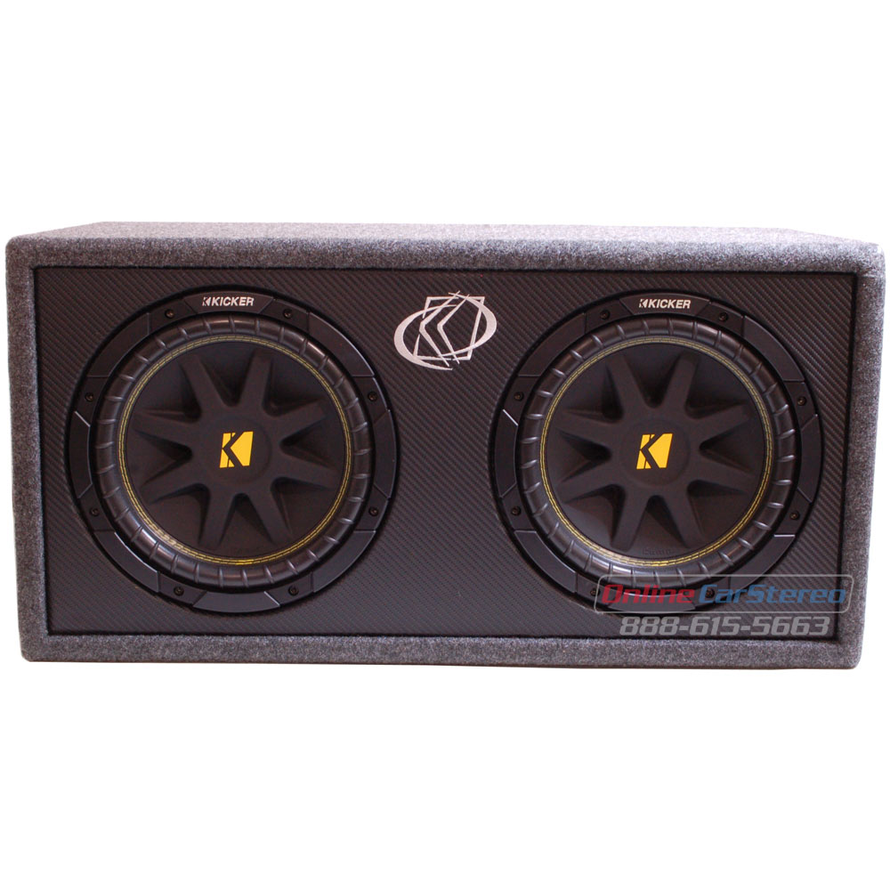 Kicker DC124 10DC124 Subwoofer Enclosure Loaded with