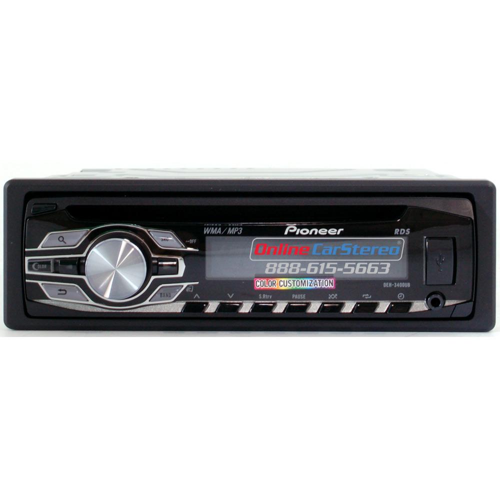 medium resolution of pioneer deh 3400ub single din in dash cd mp3 wma car