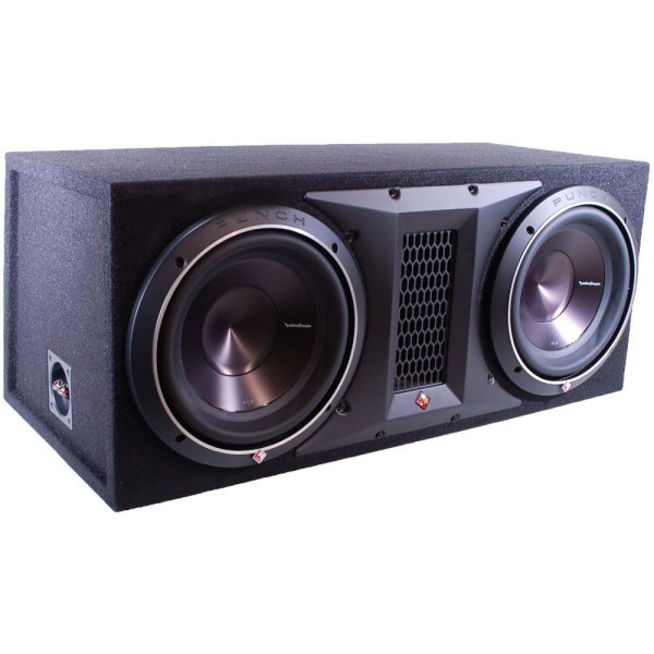 Rockford Fosgate P3-2x12 Ported Subwoofer Enclosure Loaded With Dual 12