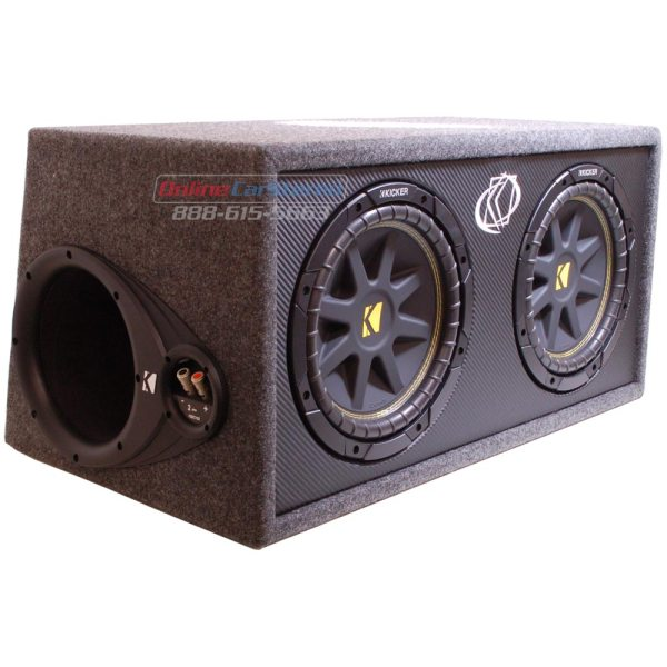 Kicker Dc124 10dc124 Subwoofer Enclosure Loaded With Dual 10- Comp Subs 4-ohm