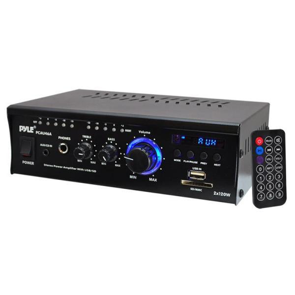 Pyle Pcau46a Mini 2 Ch Amp Withusb