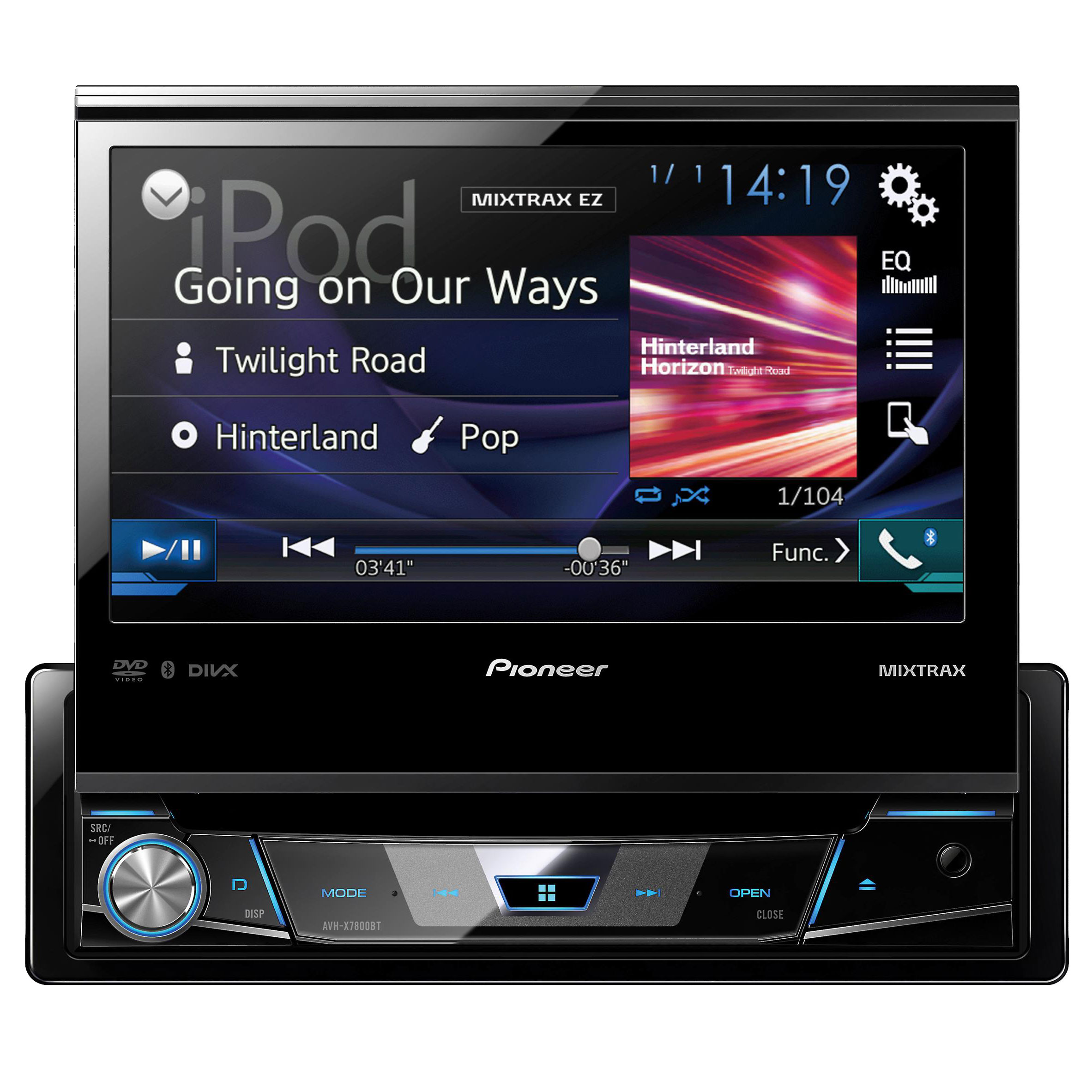 pioneer avh x7800bt be nungsanleitung 97 jeep tj radio wiring diagram 1 din dvd receiver with 7 quot flip out