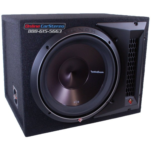 Rockford Fosgate P3-1x12 - Ported Subwoofer Enclosure Loaded With Single 12