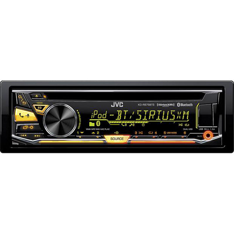 Jvc Kd R975bts Single Din Cd Car Stereo With Bluetooth And