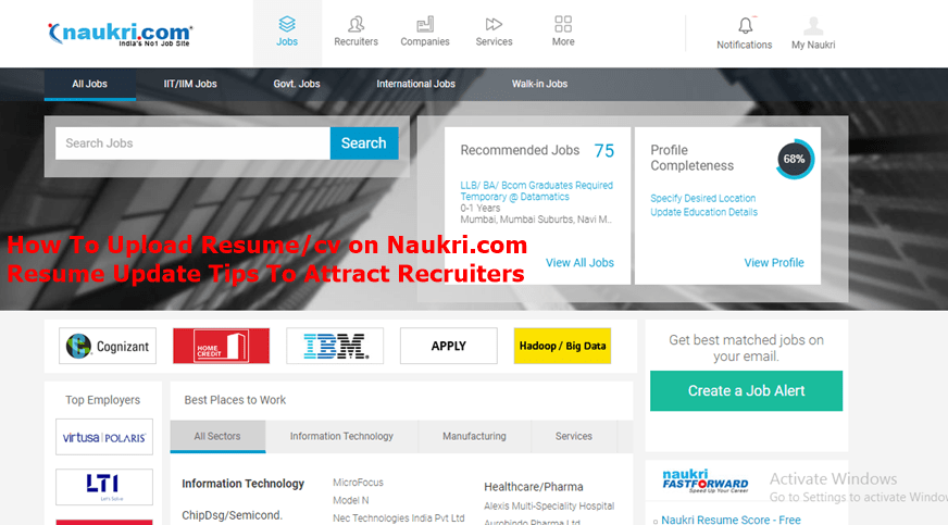 how to upload resume in naukri