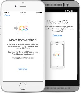 move from android to ios