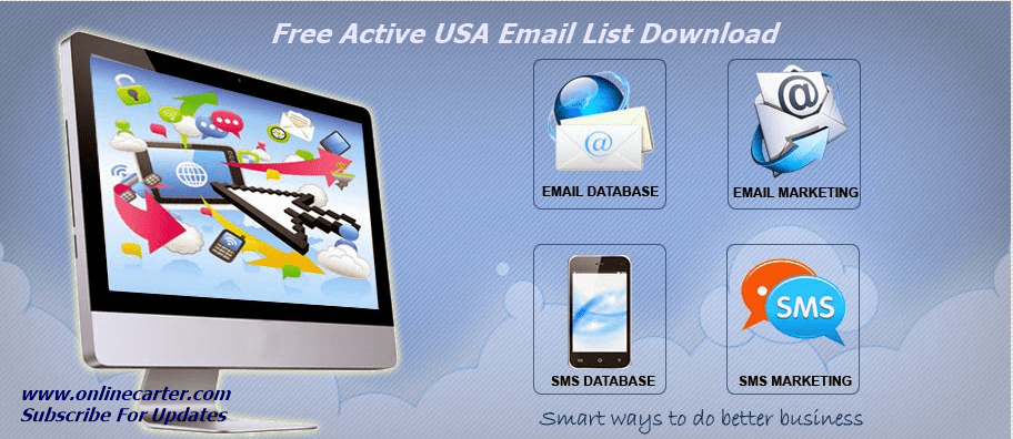 Free Email List Download - Active USA Free Email Address List Download
