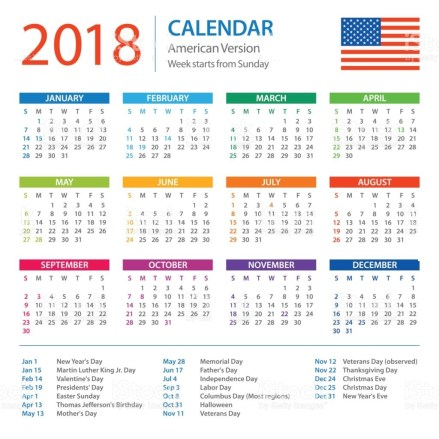 american holiday calendar us holiday calendar us holidays 2018