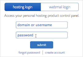 Bluehost webmail account
