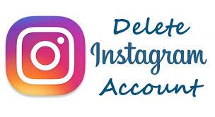 Instagram account deletion