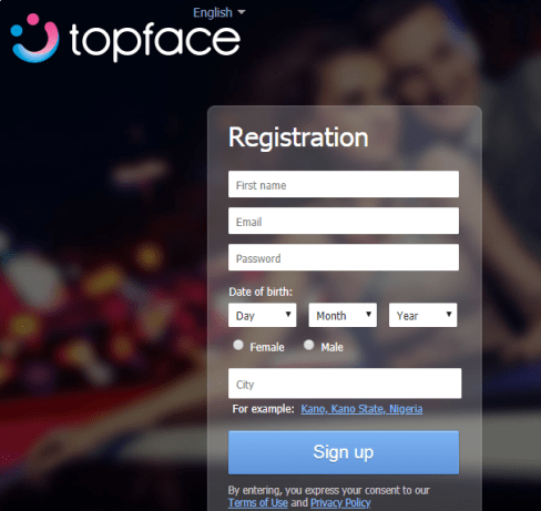 TopFace dating account