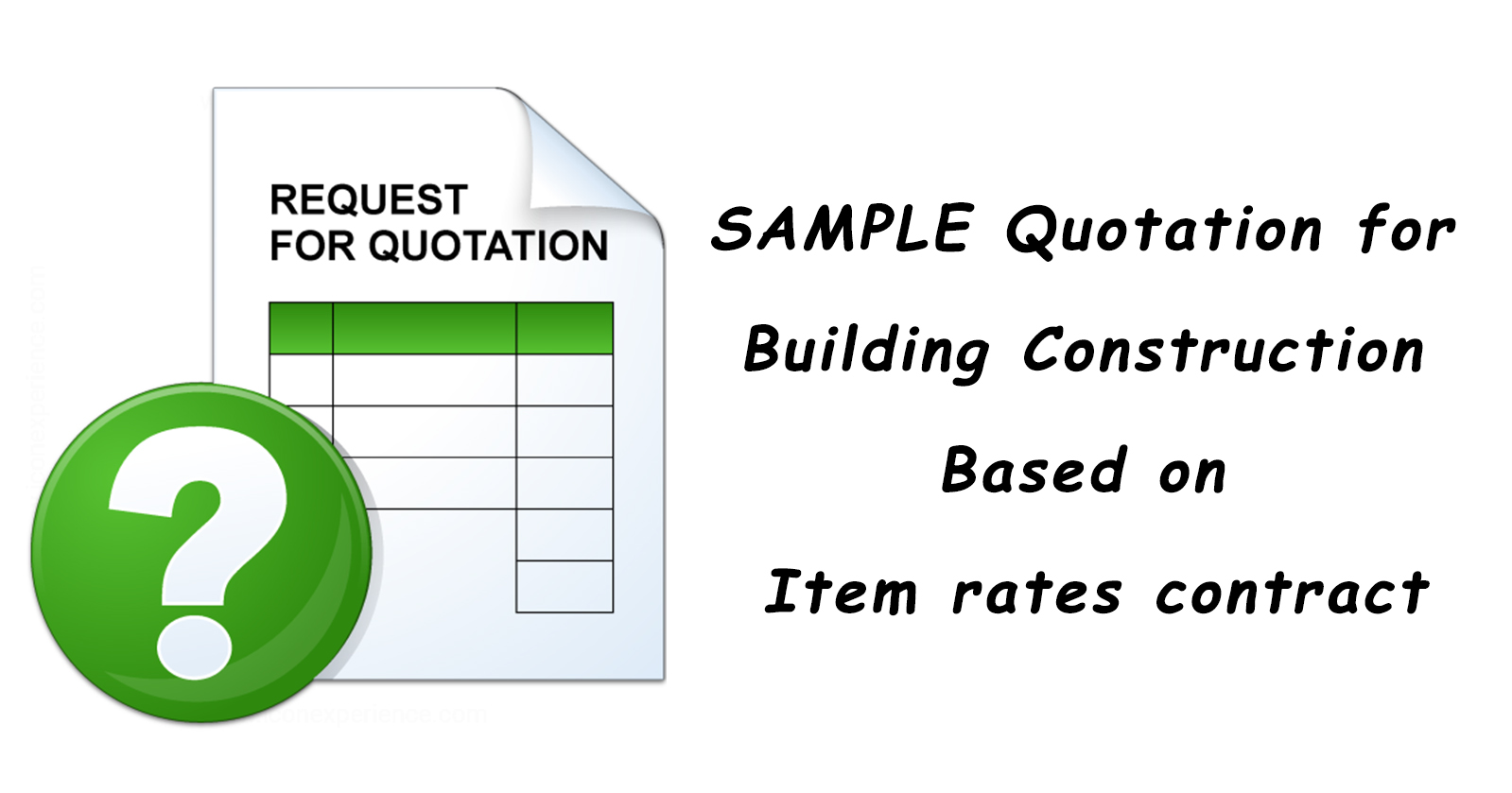 SAMPLE Quotation For Building Construction Based On Item Rates Contract