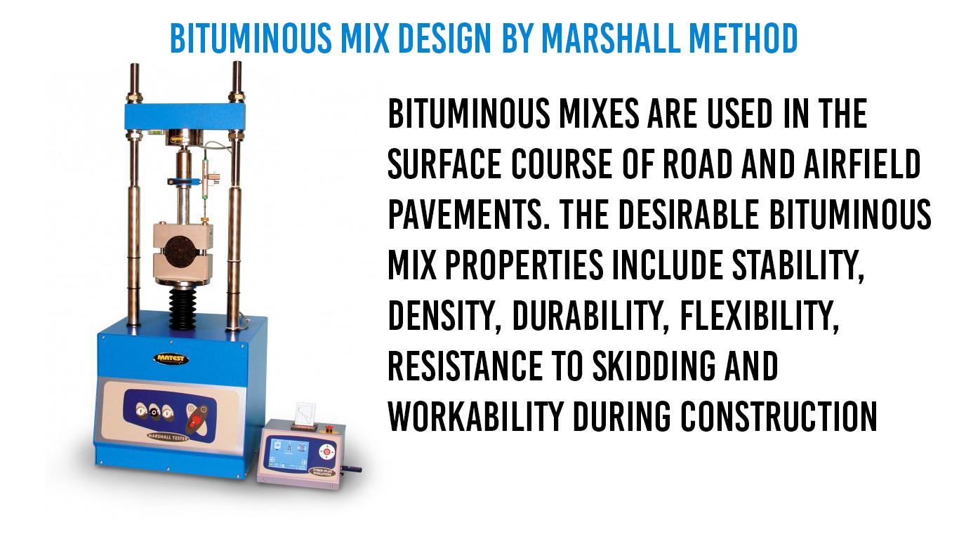 Bituminous Mix Design By Marshall Method