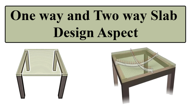 One way and Two way Slab Design Aspect