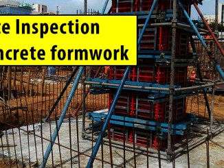 Site Inspection of Concrete formwork