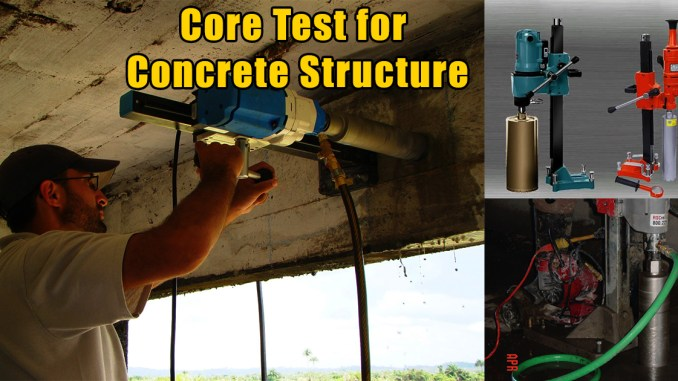 Core Test for Concrete Structure