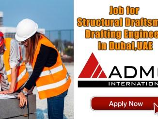 Job for Structural Draftsman Drafting Engineer in Dubai,UAE