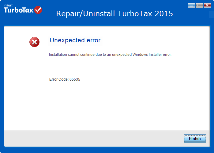 "How to Resolve TurboTax Error Code 65535 ""Unexpected Error""?"