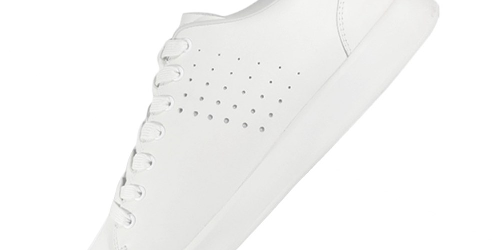 Xiaomi FREETIE Unisex Classic Board Shoes (Leisure Leather Lace-up Sneakers Size EU39 Men) – White