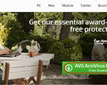 AVG download home page