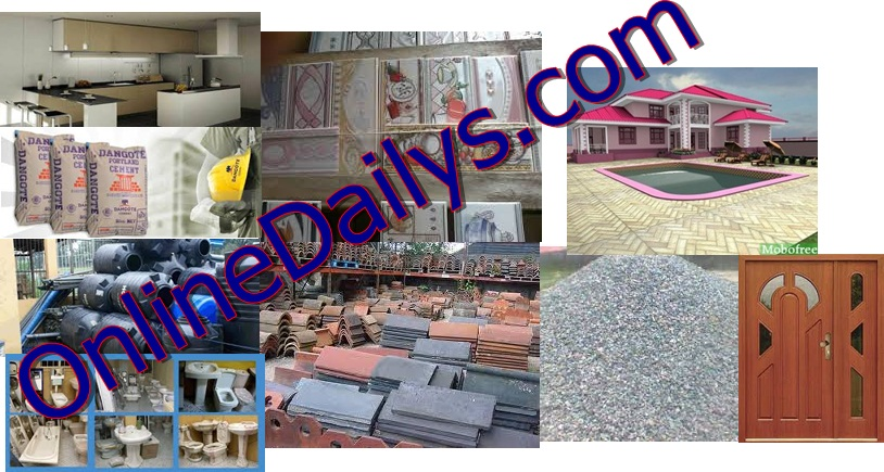 Building Materials List And Cost Of Building Materials In