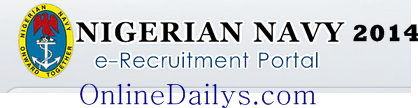 2014 Nigerian NAVY Recruitment Form image