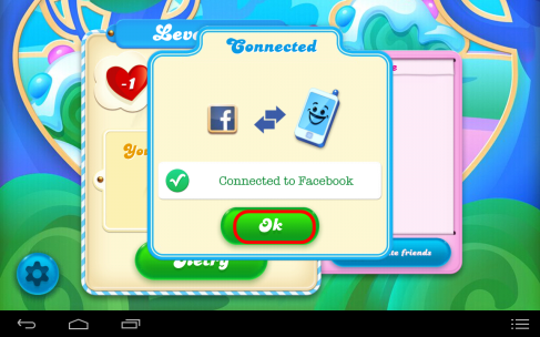 How to connect Candy Crusch Game with Facebook Account 5