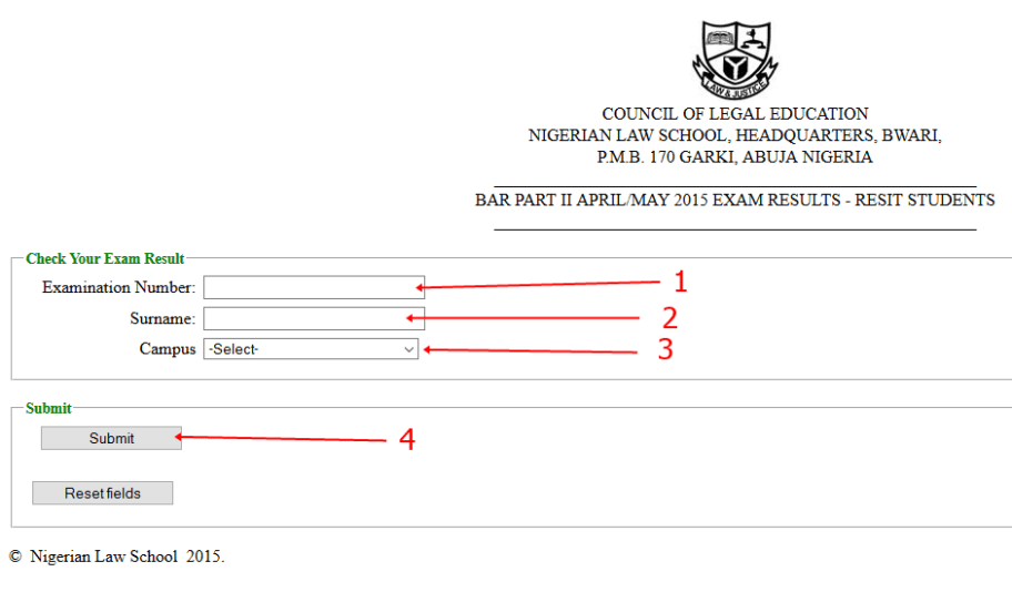 Nigerian Law School Bar II final Result Checking Online - ONLINE DAILYS