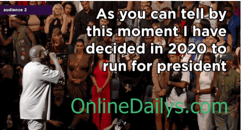 Kanye West declared he was running for president in 2020