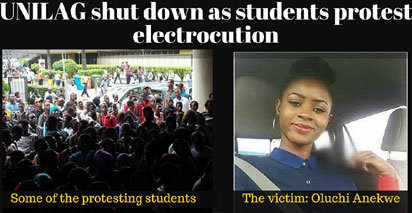 UNILAG shut down as students protest death of Oluchi Anekwe