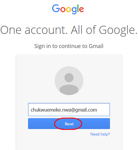 Recover Gmail account password 1