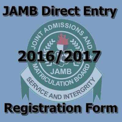 Direct Entry 2016 2017 Registration Form