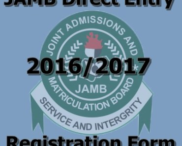 Direct Entry 2016 2017 Registration Form