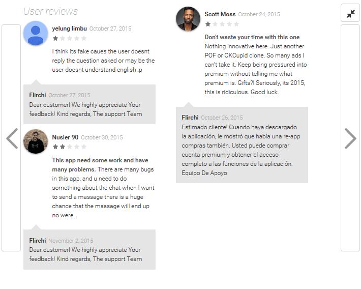 Flirchi Users talk about Flirchi App