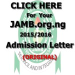 JAMB.org.ng 2015/2016 Admission Letter Printing