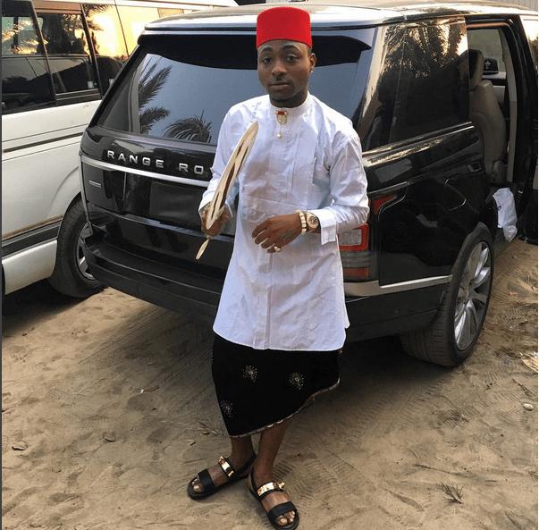 Davido in Igbo Traditional Attire