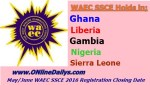 May/June WAEC SSCE 2016 Registration Closing Date
