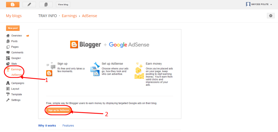 blogger sign up for ads 1