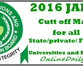 JAMB cut off mark by FG