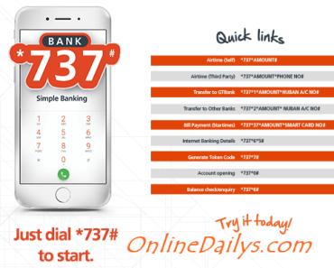 GTBank Mobile Banking Codes